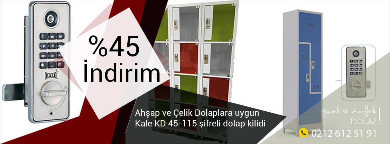 Kale Elektronik Şifreli Dolap Kilidi KD 050-45 101